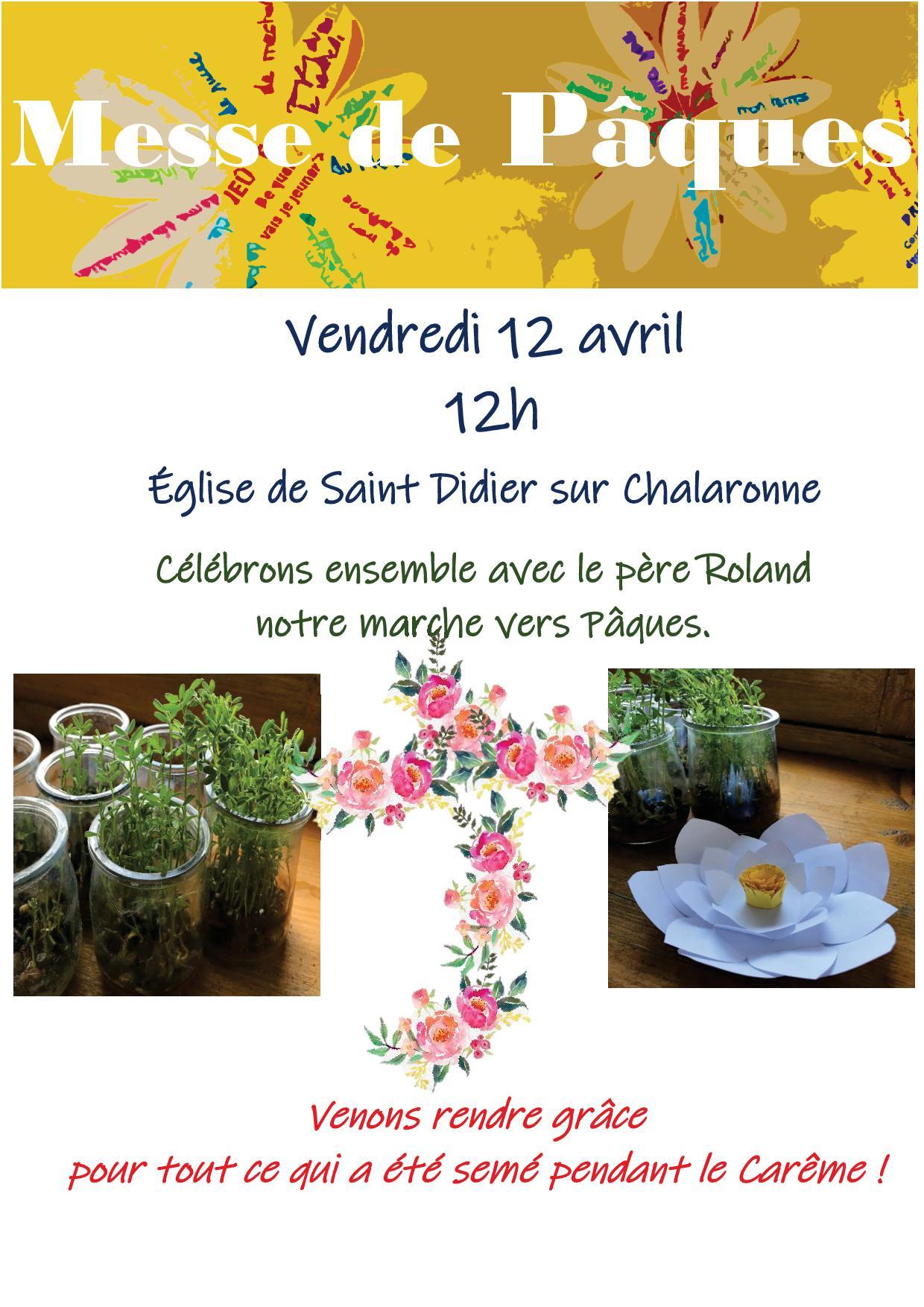 Messe De Pâques Vendredi 12 Avril 12h00